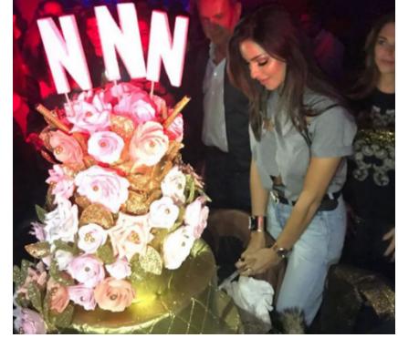 بالفيديو - نادين نسيب نجيم تحتفل بيوم ميلادها رقصاً وفرحاً مع زوجها وأصدقائها