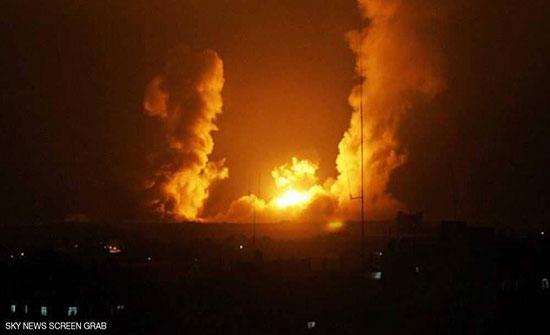 """بالفيديو : غارات """"إسرائيلية"""" على العاصمة السورية دمشق"""