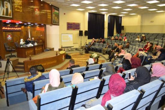 الأستاذ الدكتور البقاعي يحاضر جامعة إربد الأهلية