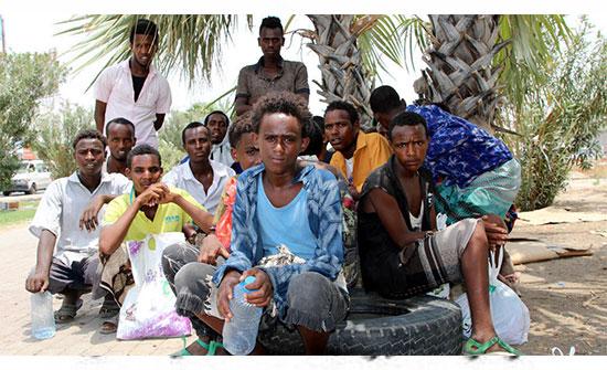 وفاة 15 مهاجرا اثيوبيا علقوا في قارب بالبحر دون طعام أو ماء اسبوعا