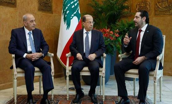 """لبنان.. الرؤساء الثلاثة يعقدون اجتماعا """"مثمرا"""" في مواجهة تهديدات إسرائيل"""