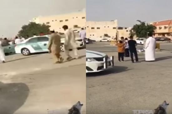 بالفيديو: مفحط يصدم مسن لا يغادر المسجد