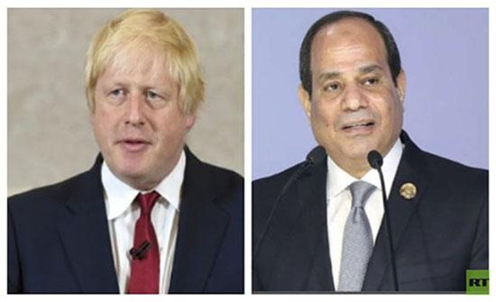 جونسون يهاتف السيسي ويؤكد دور مصر المحوري والفاعل
