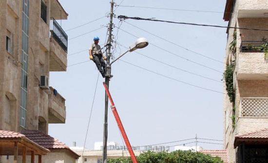 الكهرباء الأردنية: 764 عطلا خلال المنخفض الجوي