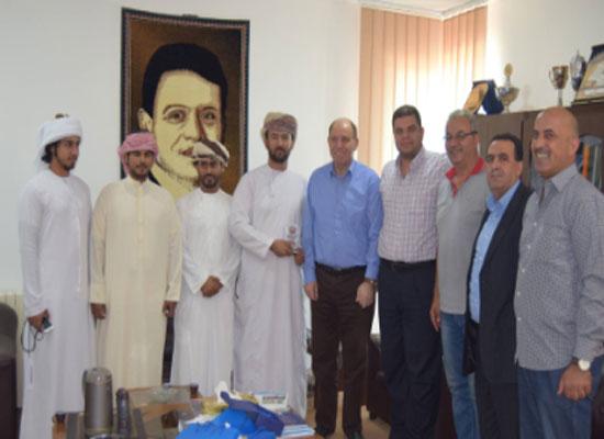 الوهيبي عضو مجلس الشورى في سلطنة عُمان الشقيقة يزور جامعة إربد الأهلية
