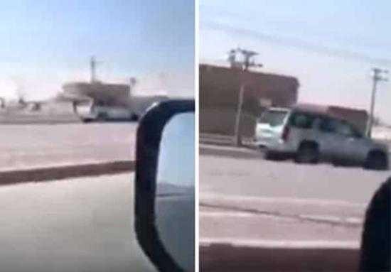 بالفيديو: قائد مركبة يستهتر بأرواح المارة ويسير عكس الطريق