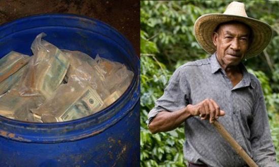 رجل يعثر على 600 مليون دولار مدفونة في أرضه!