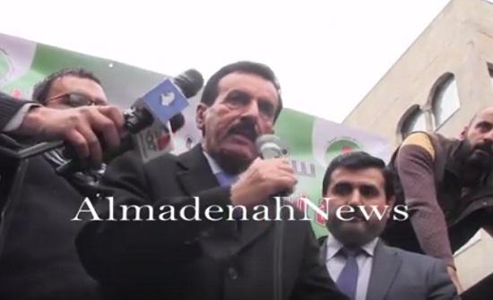 بالفيديو : كلمة الدكتور عبدالله العكايلة خلال مسيرة وسط البلد