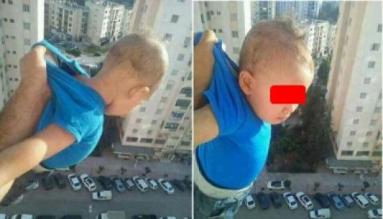 شاهد: شخص يغامر بحياة طفل من أجل صور تحبس الأنفاس