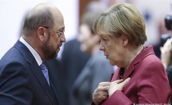 شولتس: الائتلاف مع ميركل يصب بمصلحة السياسة الأوروبية