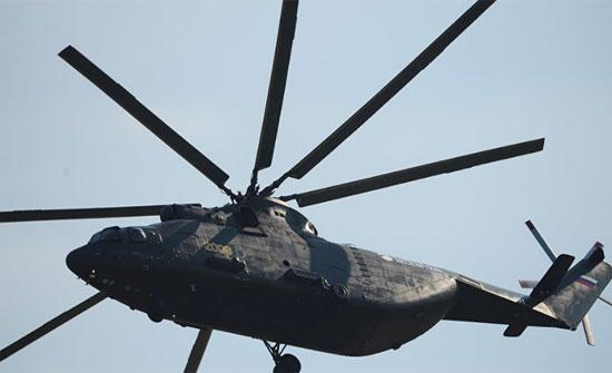 """روسيا تسلم الأردن المروحية الثقيلة """"مي-26تي2"""""""
