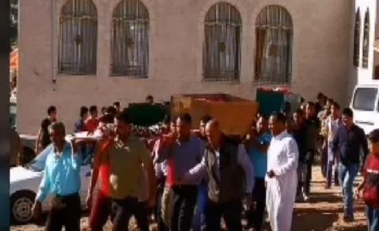 بالفيديو : تشييع أطفال حادثة الحريق في إربد
