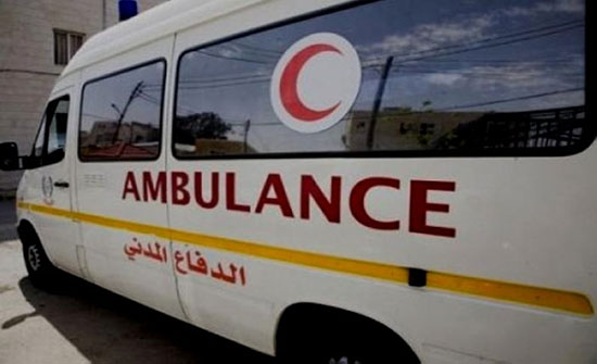 إصابة أربعة أشخاص اثر حادث تصادم في محافظة المفرق