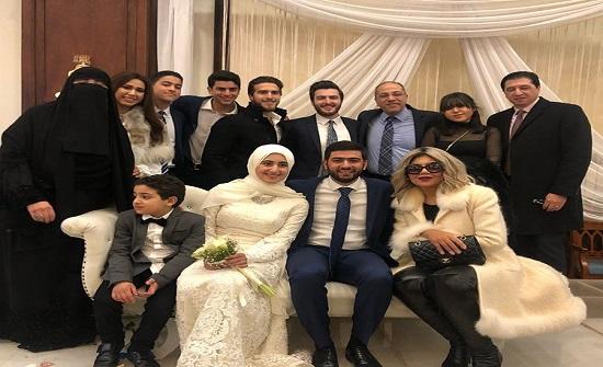 بوسي شلبي تحتفل بعقد قران احلام حفيدة احلام