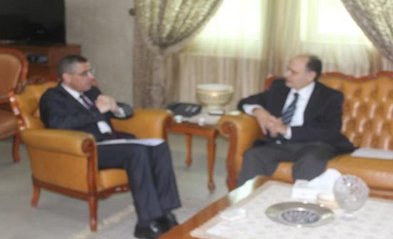 أمين عام وزارة التعليم العالي والبحث العلمي يلتقي سفير الجمهورية القبرصية  في عمان