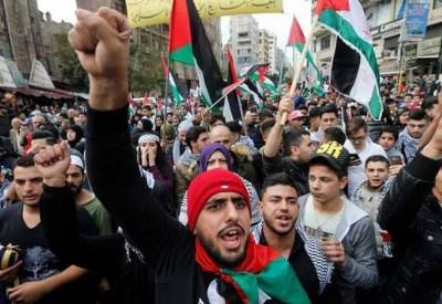 مسيرة في غزة للتنديد بقرار الرئيس الامريكي بشأن القدس