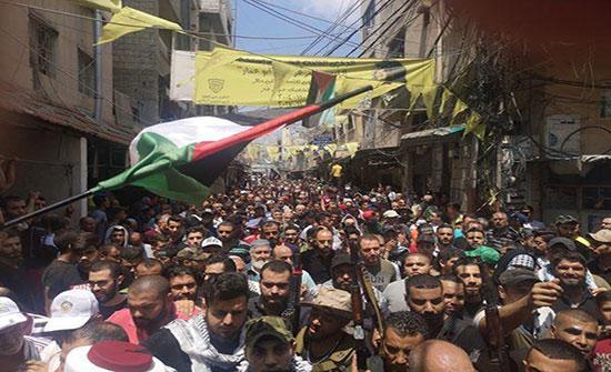 مقتل فلسطيني خلال تظاهرة حاشدة في مخيم عين الحلوة