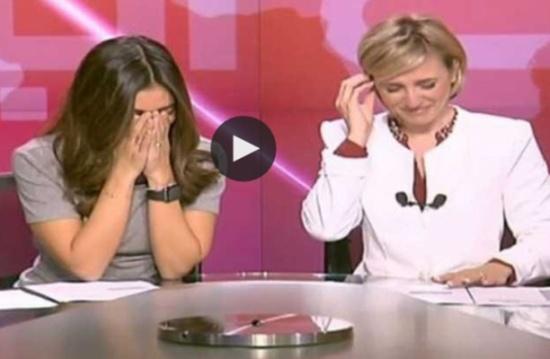 مذيعتان لبنانيتان تدخلان في نوبة ضحك على الهواء (شاهد)