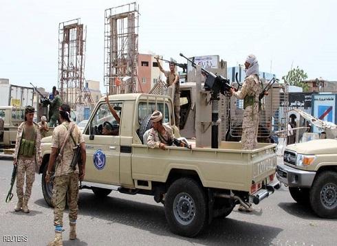 """التحالف يعلن بدء قوات """"الانتقالي"""" الانسحاب في عدن"""