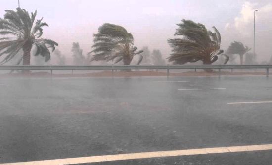 بالفيديو.. الرياح الشديدة تتلاعب باثنين من المارة!