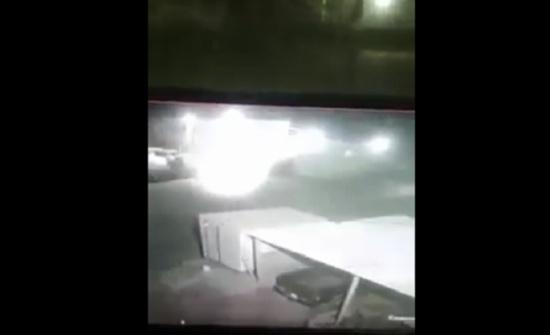 بالفيديو : جسم مضئ وغريب يسقط في إربد وهذه حقيقته