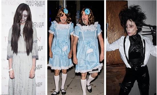 صور رائعة : مشاهير استوحوا أزياء الهالوين من الأفلام