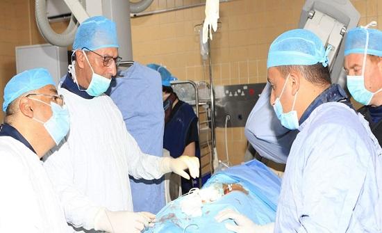 زراعة صمامات رئوية بواسطة القسطرة القلبية في الحسين الطبية