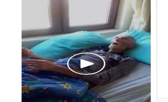 مريض في غيبوبة يتوضأ كلما أتى وقت الصلاة (فيديو)