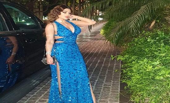 هيفاء وهبي تخطف الأنظار بفستان أزرق في أحدث ظهور (فيديو)