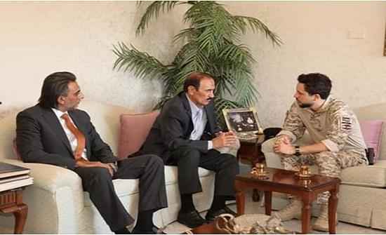 بالصور : الأمير حسين يزور الباشا عبد الرحمن العدوان
