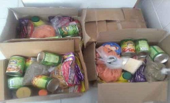 توزيع مساعدات على اسر محتاجة في جرش