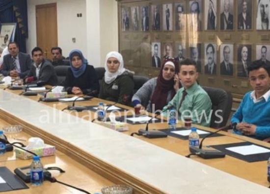 صور : إتحاد طلبة لواء ماركا في زيارة لمجلس النواب