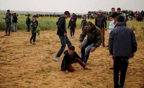 اكثر من 1000 طفل اصيبوا برصاص الاحتلال في مسيرات العودة على حدود غزة