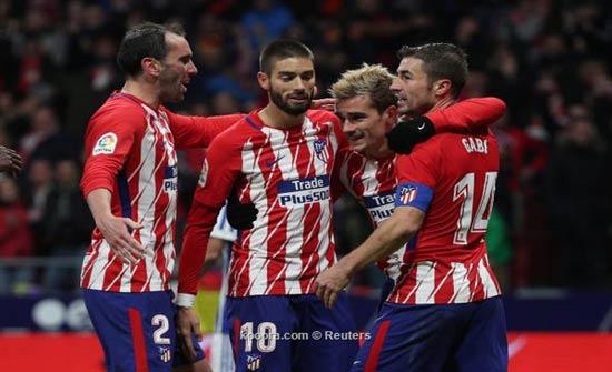 أتلتيكو مدريد يستسلم أمام برشلونة