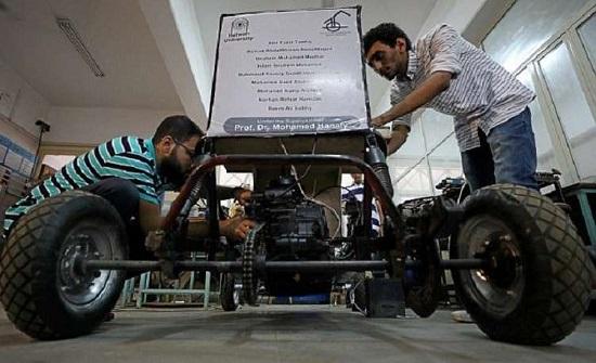 """بالصور : طلاب مصريون يصممون """"سيارة"""" تعمل بـ""""الهواء""""!"""