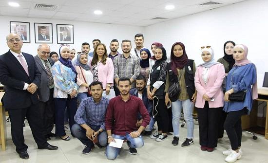 غنيمات تحاور طلبة إعلام اليرموك وقيادات شبابية في إربد