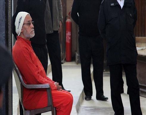 """خلال أسبوع.. ثاني حكم نهائي بالمؤبد على مرشد """"إخوان"""" مصر"""