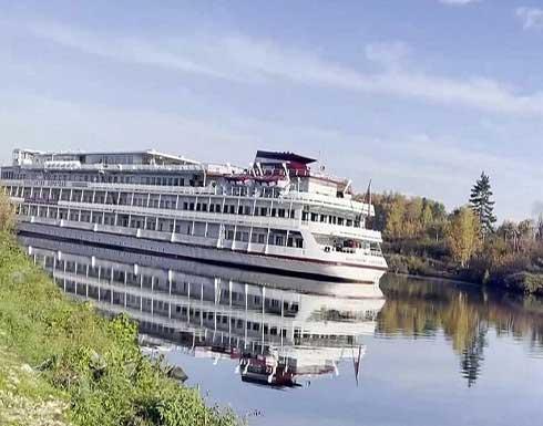 """على غرار """"إيفير غيفن"""" في قناة السويس.. سفينة تعطل الملاحة في قناة موسكو"""