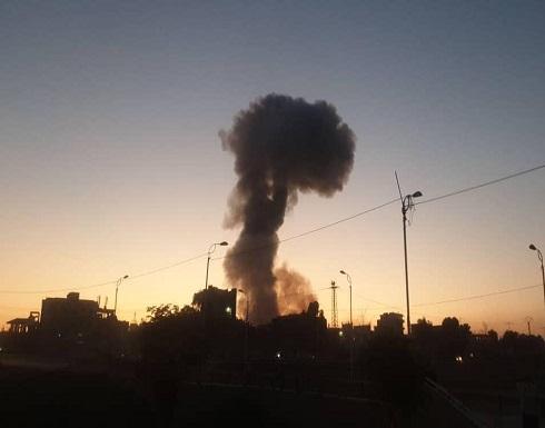 شاهد : انفجار مستودع ذخيرة في سوريا