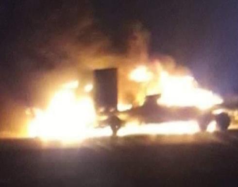 بالفيديو : اعتداء على القوات الأميركية في العراق.. استهداف شاحنات