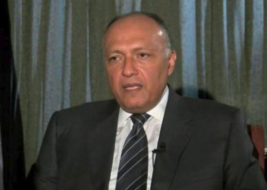 وزير الخارجية المصري يصل عمان