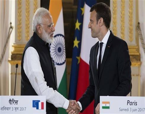 ماكرون ومودي يدشنان محطة جديدة للطاقة الشمسية شمالي الهند