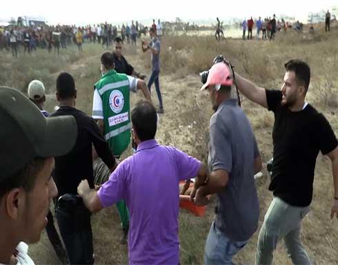 شاهد : إصابة عشرات الفلسطينيين برصاص وغاز الجيش الإسرائيلي في نابلس