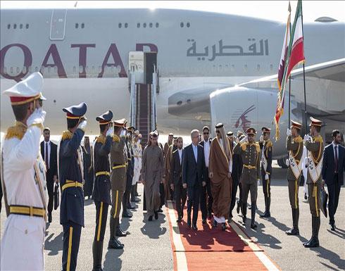 أمير قطر يزور إيران للمرة الأولى منذ توليه الحكم