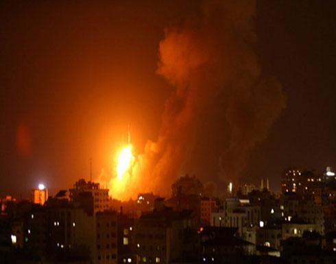 شاهد.. لحظة استهداف طائرات الاحتلال موقع عسقلان شمال قطاع غزة