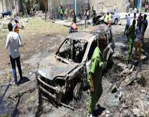 بالفيديو :  انفجار قوي في وسط مقديشو