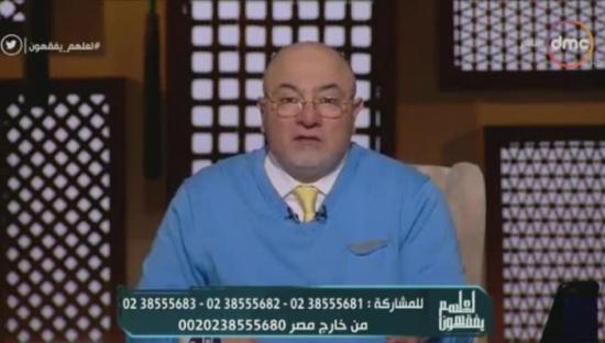 """خالد الجندى يحذر من قول هذه الجملة أثناء العزاء"""" فيديو """""""