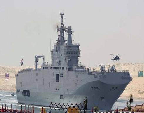 البحرية المصرية والفرنسية تنفذان تدريبا بحريا عابرا في المتوسط
