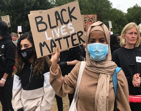 مظاهرة بلندن تنديدا بالعنصرية في أمريكا .. بالفيديو