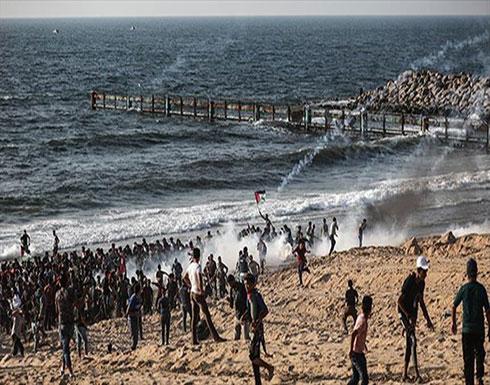 إصابة 29 فلسطينيا بأسلحة إسرائيلية قبالة شواطئ غزة
